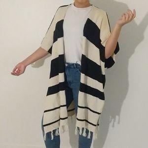 NWT By Together Talia Striped Shawl Cardigan